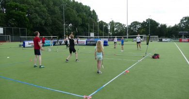 AirBadminton clinic groot succes!
